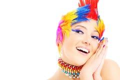 Fronte felice di colori Immagine Stock