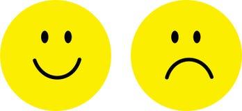 Fronte felice e triste illustrazione vettoriale