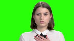 Fronte femminile triste #01 video d archivio