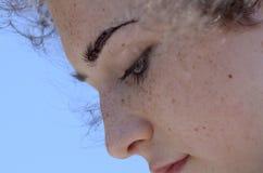 Fronte Freckled Immagini Stock Libere da Diritti