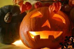 Fronte I della zucca di Halloween Fotografia Stock Libera da Diritti