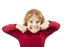 Fronte impertinente del bambino Fotografie Stock