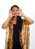Fronte incorniciato donna asiatica immagini stock