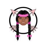 Fronte indigeno americano della bambola Immagine Stock
