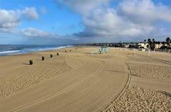 Fronte mare alla spiaggia California di Hermosa nella contea di Los Angeles, California, Stati Uniti immagine stock libera da diritti