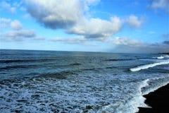 Fronte mare alla spiaggia California di Hermosa nella contea di Los Angeles, California, Stati Uniti fotografia stock