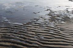 Fronte mare ghiacciato della primavera fotografie stock libere da diritti