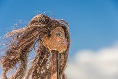 Fronte nella sabbia Fotografia Stock