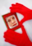 Fronte nello specchio Fotografie Stock Libere da Diritti