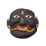 Fronte nero - vecchia maschera nepalese Immagine Stock Libera da Diritti
