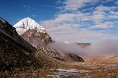Fronte orientale del Monte Kailash sacro fotografia stock libera da diritti