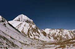 Fronte orientale del Monte Kailash sacro fotografia stock