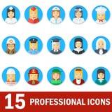 Fronte professionale delle icone della donna Fotografia Stock Libera da Diritti