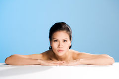 Fronte pulito fresco di giovane donna Fotografia Stock Libera da Diritti