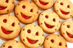 Fronte sorridente del gruppo fotografia stock