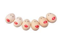 FRONTE sorridente dell'uovo Fotografie Stock