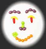 Fronte sorridente della caramella. Fotografia Stock