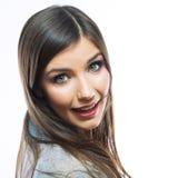 Fronte sorridente della donna Fotografia Stock