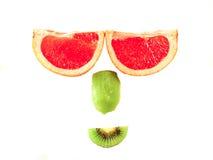 Fronte sorridente della frutta immagine stock libera da diritti