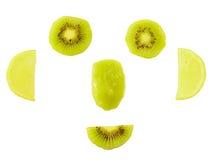 Fronte sorridente della frutta fotografia stock