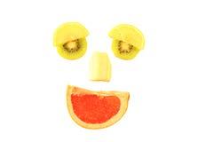 Fronte sorridente della frutta fotografie stock libere da diritti