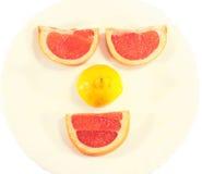 Fronte sorridente della frutta fotografia stock libera da diritti