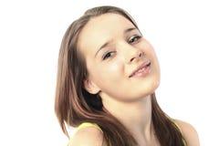 Fronte sorridente della giovane donna Fotografia Stock