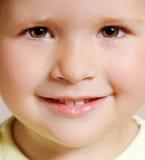 Fronte sorridente della ragazza Fotografia Stock