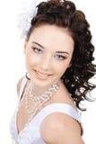 Fronte sorridente di giovane sposa di bellezza Fotografia Stock