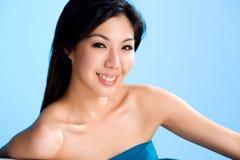 Fronte sorridente felice di giovane donna fotografie stock libere da diritti