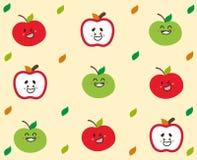 Fronte sveglio della mela Immagine Stock