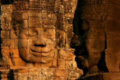 Fronte in tempiale di Bayon, Angkor fotografia stock libera da diritti