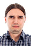 Fronte triste infelice dell'uomo Fotografie Stock Libere da Diritti