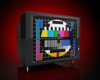 Fronteggi una vecchia TV Immagini Stock