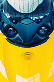 Fronteie o 'trotinette' amarelo Fotografia de Stock Royalty Free