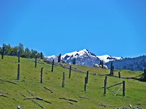 Fronteira Argentina - Chile fotos de stock