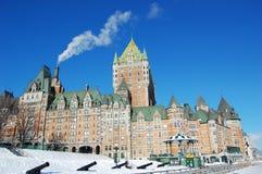 frontenac Квебек города замка Канады Стоковые Фотографии RF