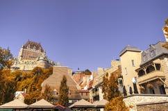 frontenac Квебек города замка Канады Стоковое Изображение