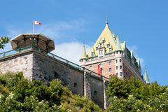 frontenac старый Квебек города замка Стоковая Фотография RF