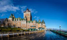 Frontenac Castle and Dufferin Terrace - Quebec City, Quebec, Canada Stock Photography