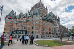 Frontenac castle hotel of Quebec City Royalty Free Stock Photography