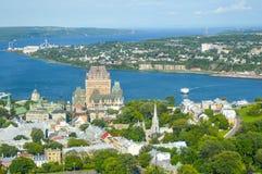 Frontenac castle in Quebec Stock Images