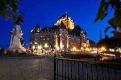 Frontenac Chateau - Quebec City Arkivfoto