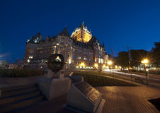 Frontenac Chateau - Quebec City - 01 Stock Image