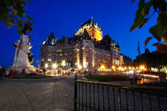 Frontenac Chateau - Quebec City Stock Photo