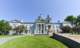 Frontenac County Court House in Kingston, Ontario, Canada. The Neoclassical building is the Courthouse for Frontenac County, Ontario royalty free stock photography