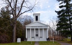 Frontenac Museum on Cayuga Lake in Union Spring NY. Originally built in 1840 as a Presbyterian Church, it was renovated into a museum in 1994. Found on Rt 90 in Stock Photo