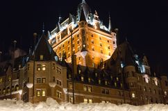 Frontenac in night Royalty Free Stock Photography