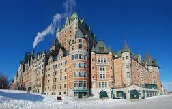 frontenac quebec för Kanada chateaustad Arkivfoton