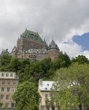 frontenac quebec för Kanada chateaustad arkivbild